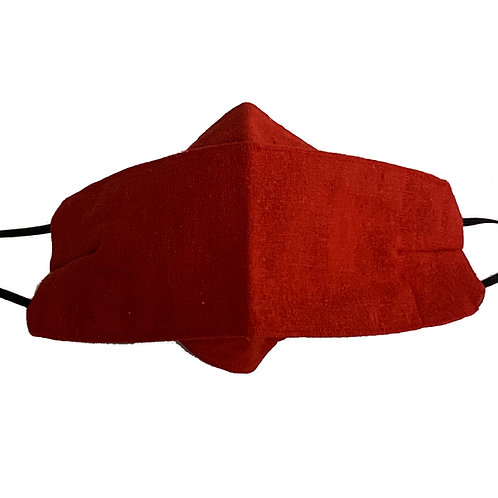 Origami Mask- Orange Linen