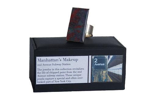 Manhattan's Makeup Paint Chip Rectangle Ring