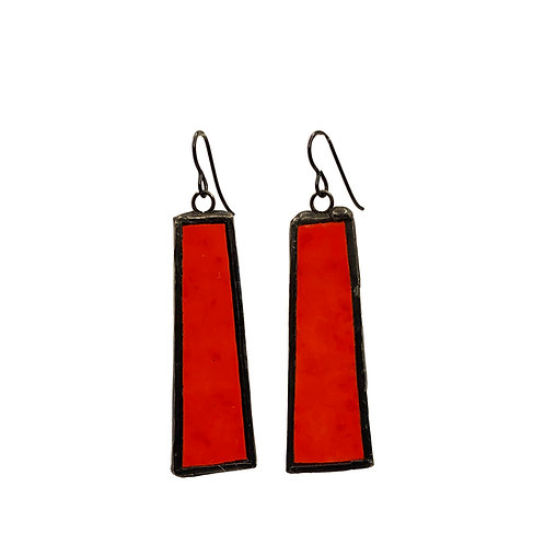 Red Textured Cathedral Trapezoids