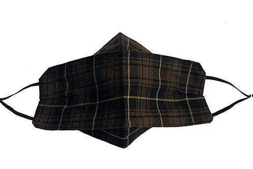 Origami Mask- Brown Plaid