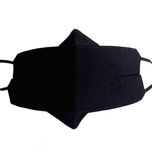 Origami Mask- Blue Gabardine