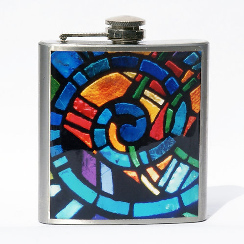 Stained Glass 6oz Flask