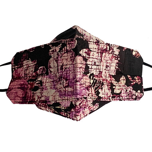 Origami Mask- Prink and Brown Floral