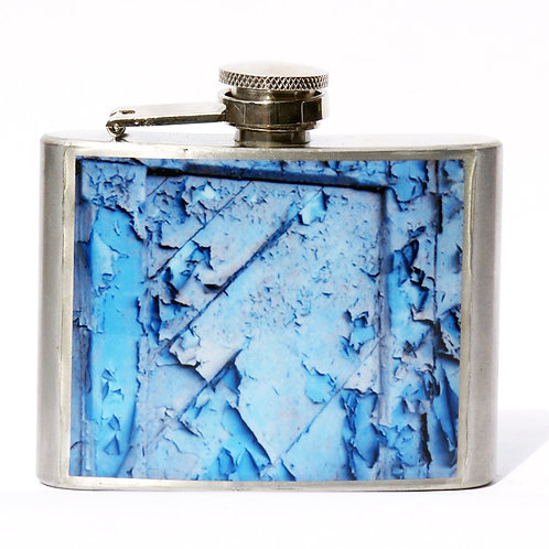 Domino Blue 4oz Flask
