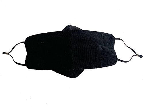 Origami Mask- Black Corduroy