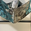 Thumbnail: Origami Mask- Silver and Blue Floral Brocade