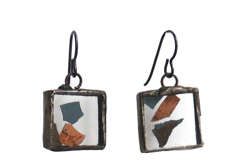 Manhattan's Makeup, Manhattan Bridge Paint Chip Earrings