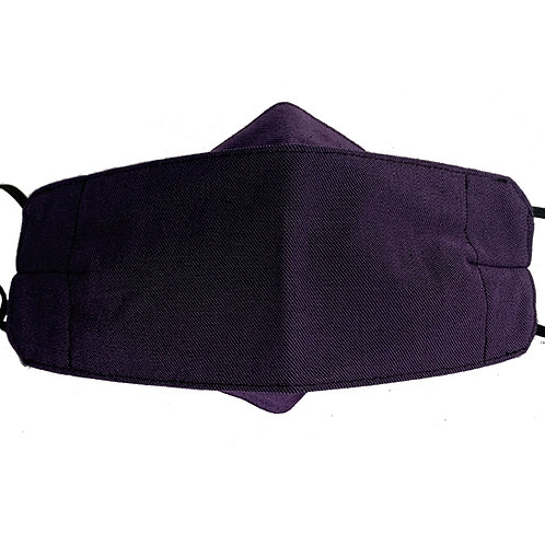 Origami Mask- Purple Twill (Denim)
