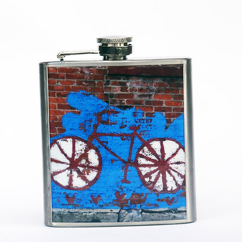 Bike Graffiti- 6oz Flask