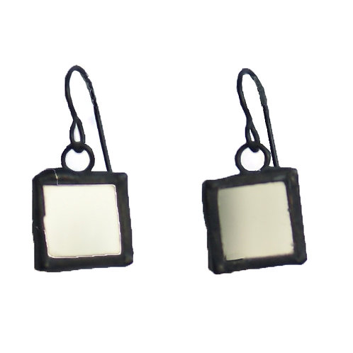 Mirror Earrings- Small Square