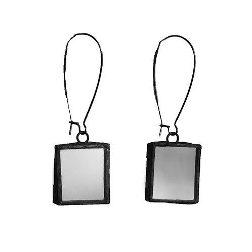 Mirror Earrings - Wire Loop