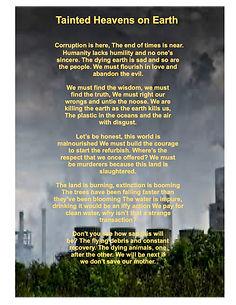 Tainted Heavens on Earth Poem
