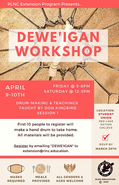 Dewe'igan Workshop, drum