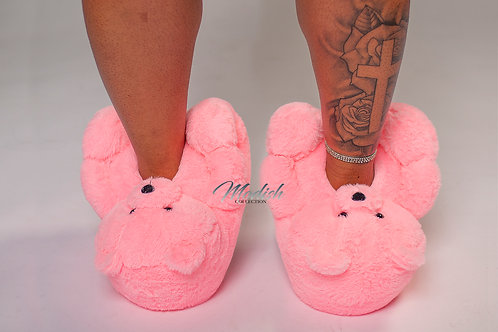 Modish Teddy Slippers Pink