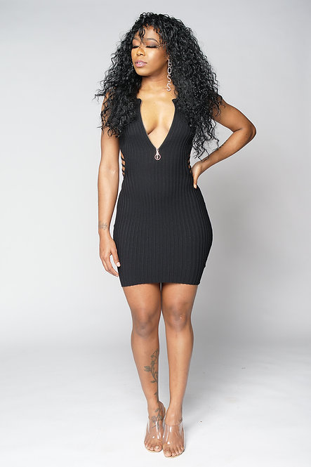 Summer Nights Mini Dress (Black)