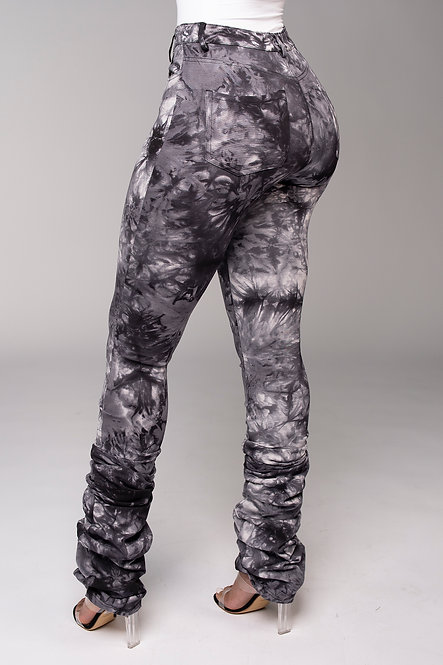 Bodied Stacked Pants (Tie Dye)