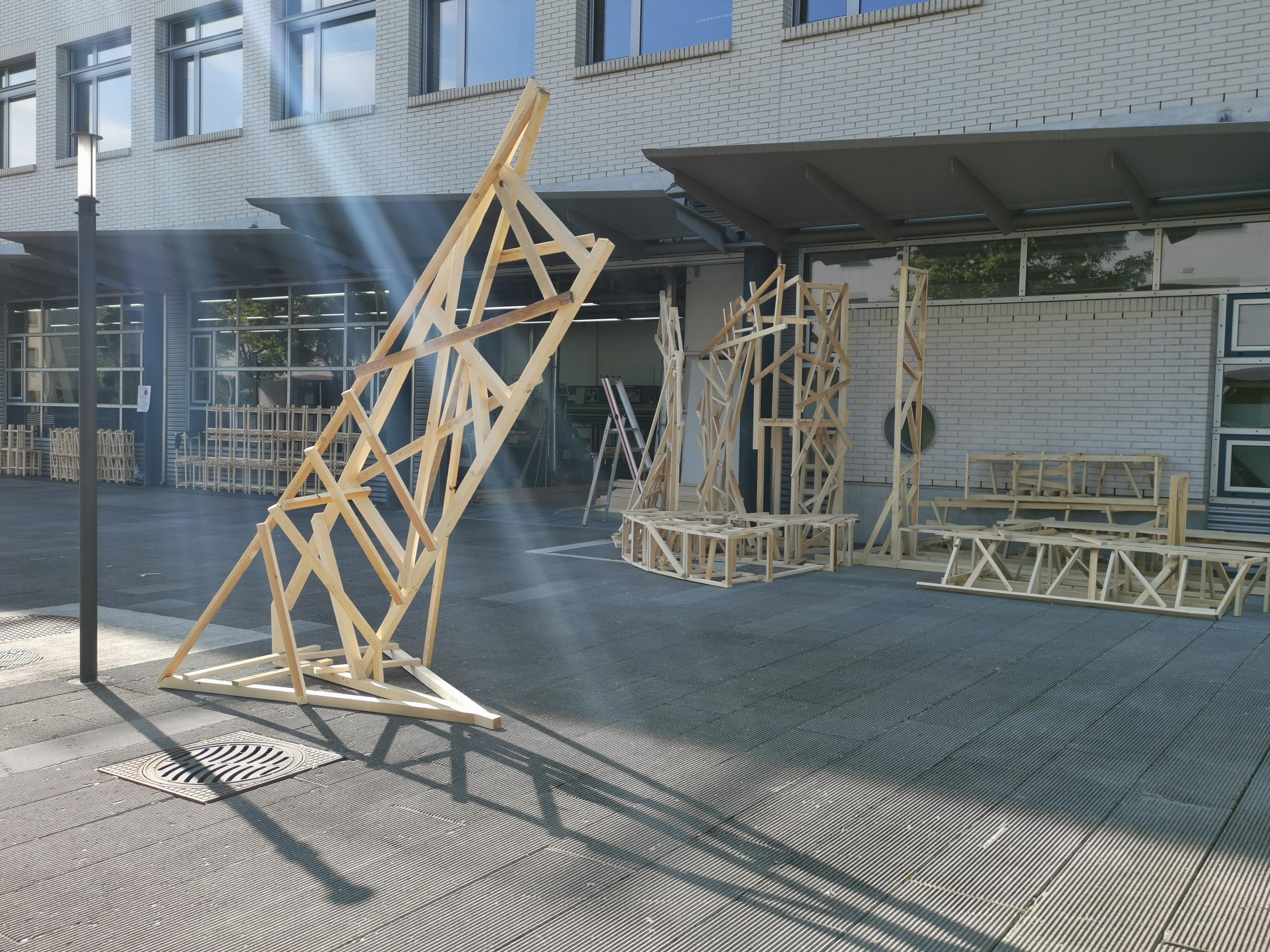 Anamorphose im Aufbau in Zug