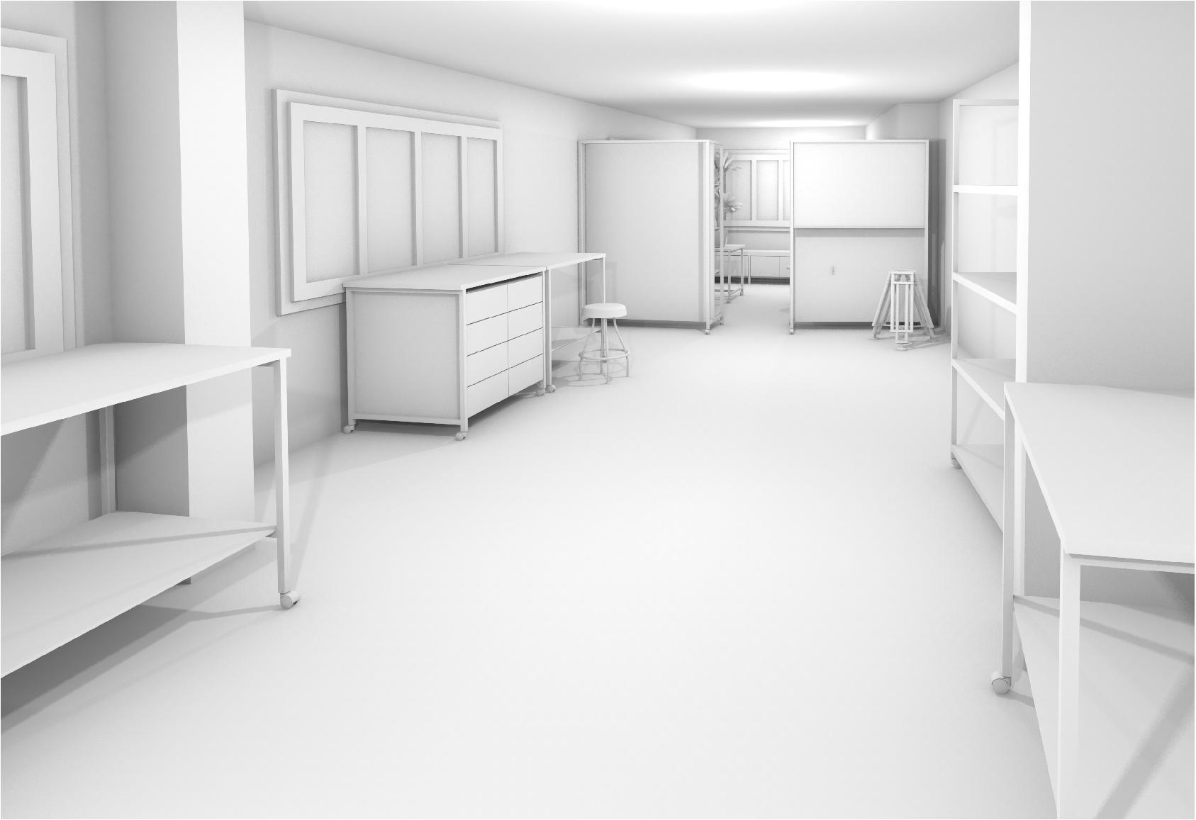 Gipsmodell Rendering Arbeitsbereich Einrichtung 1