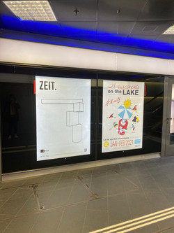 Plakat in Zürich am Bahnhof