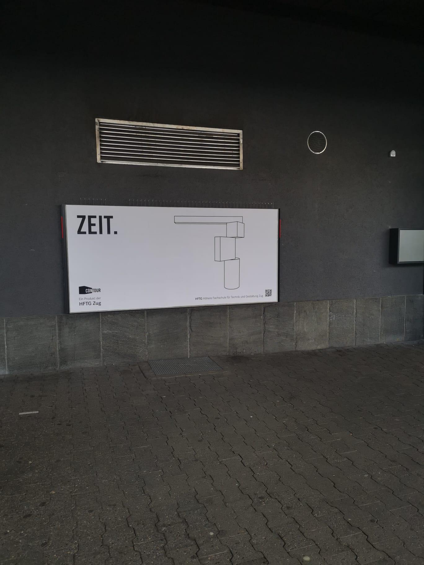 Plakat in Zug am Bahnhof