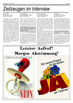 Zeitungartikel unserer Spezialzeitung