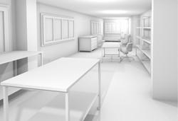 Gipsmodell Rendering Arbeitsbereich Einrichtung 2