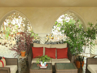 Mirror Mosiac with Faux Arches