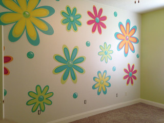 Graphic Art Accent Walls