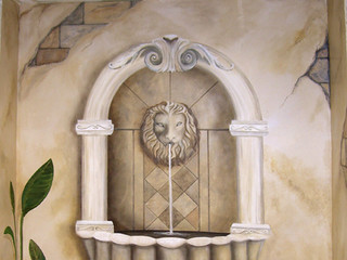 Water Fountain Mural