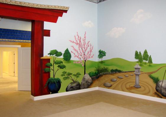 Japanese Playroom Mural