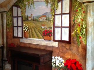Private vineyard scene