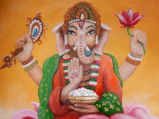 Baby Ganesh Mural