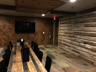 Leather Faux & Log Staining