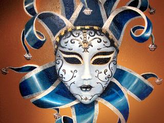 Mardi Gras Mask Mural