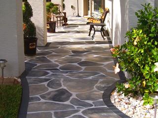 Faux Stone Path