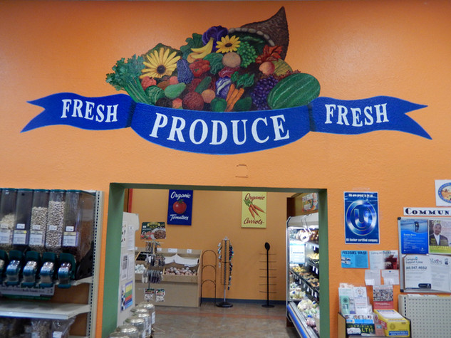 Produce Sign with Art