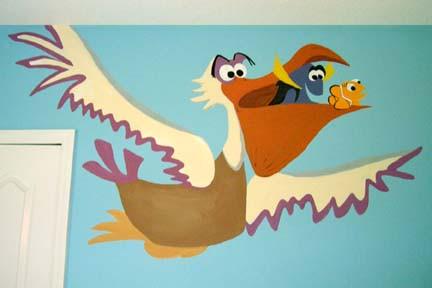 Character Nursery Mural