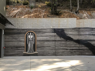 Dr. Who Weeping Angel Mural