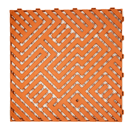 Dalle de sol 50X50 Orange Ral2004