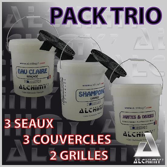 Pack TRIO 3 Seaux + 3 Couvercles + 2 Grilles