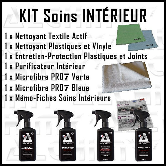 kit soins intérieur alchimy7, plastique protection