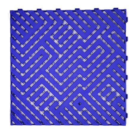 Dalle de sol 50X50 Bleu Ral 5022