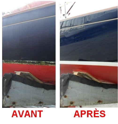 rénovation coque, rénovaton bateau, nettoyage bateau, protection bateau