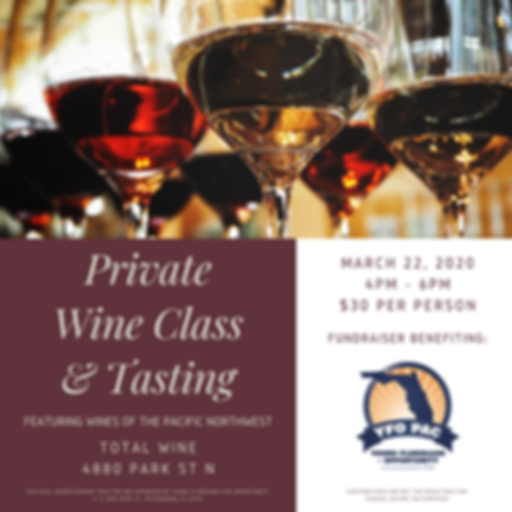 Maroon Glass Elegant Wine Tasting Invita