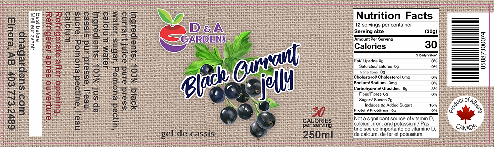 Black Currant Jelly Label