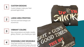 Heat Pressed Vinyl Rocks Your Custom Designs