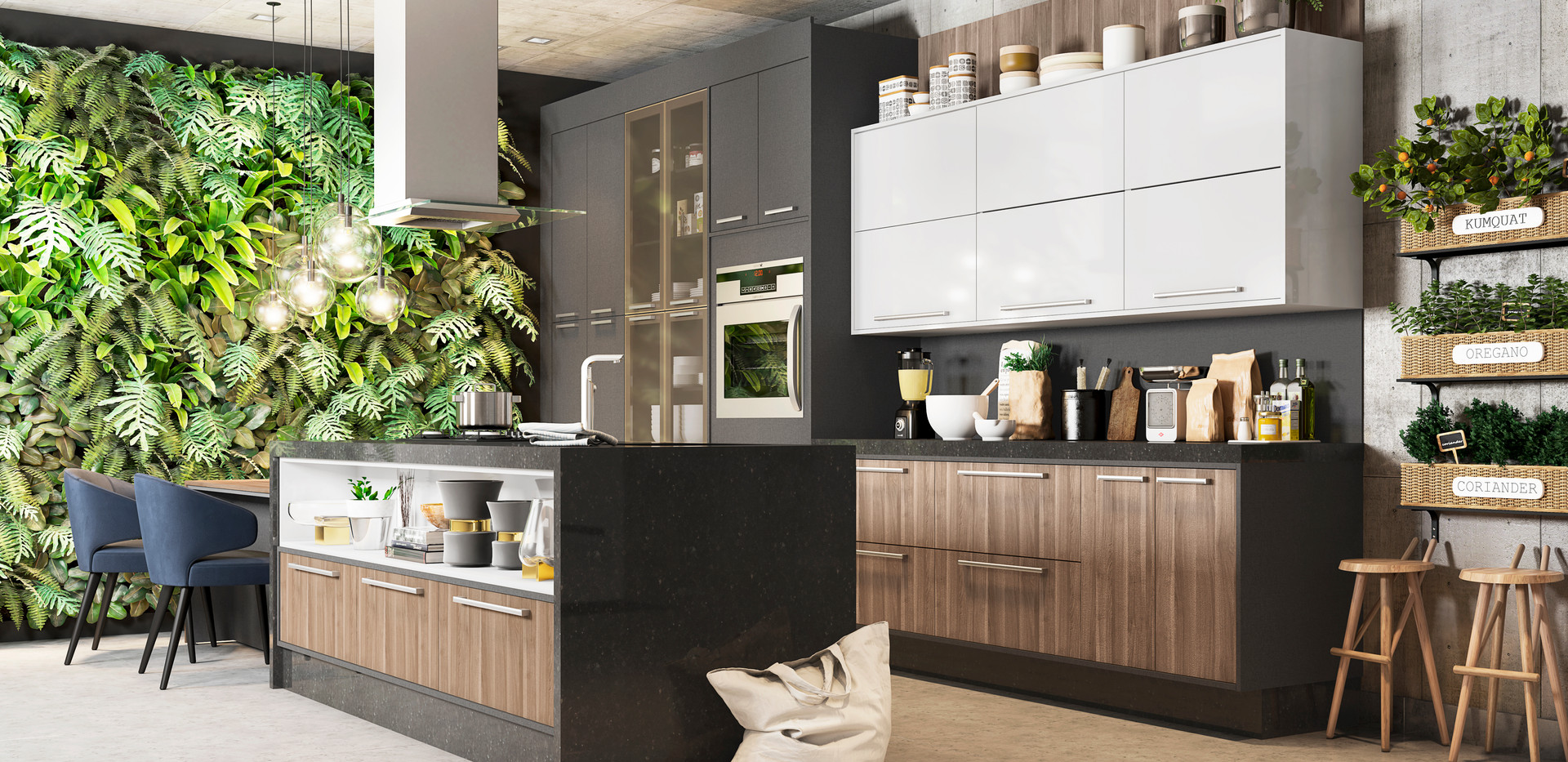 Cozinha 01 - Grafitto - Lanarca -Branco
