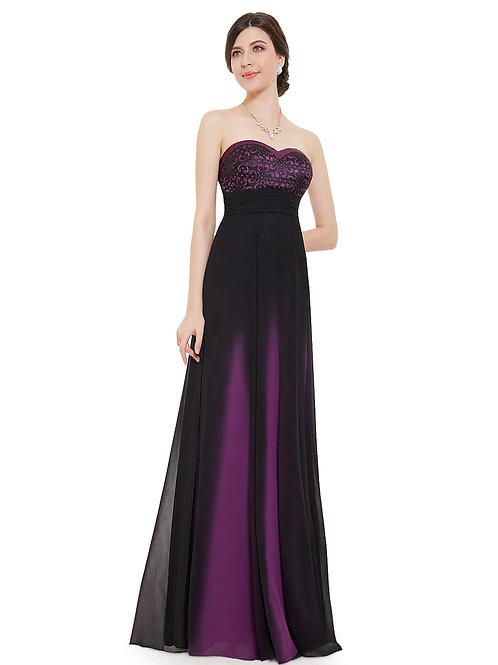 Elegant Strapless Long Evening Dress