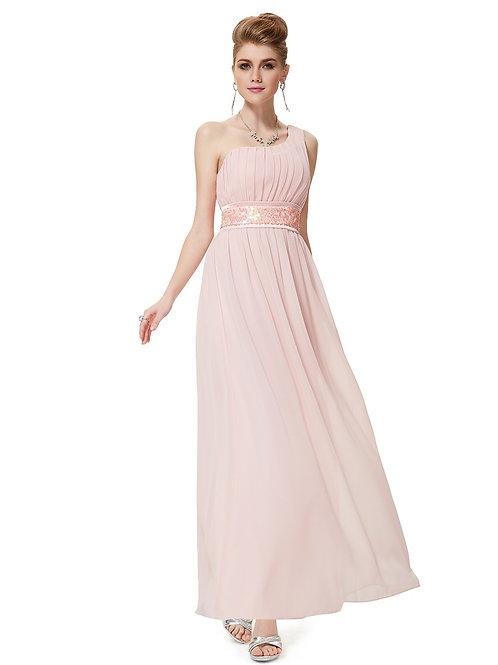 Sequins Empire Waist Ruffles Padded Chiffon Prom Dress