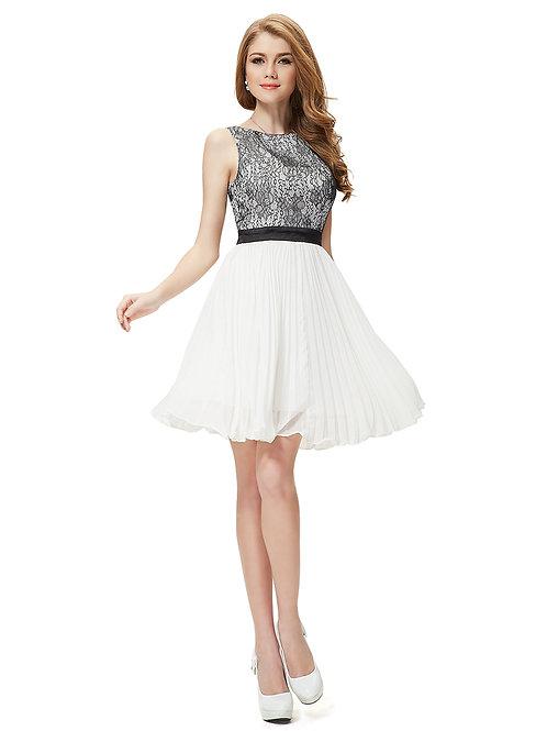 Sleeveless Halter Black Lace Backless Short Prom Dress